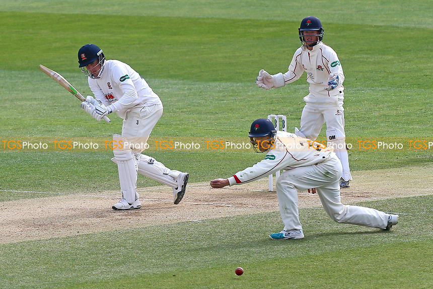 Daniel Lawrence in batting action for Essex during Essex CCC vs Lancashire CCC, Specsavers County Championship Division 1 Cricket at The Cloudfm County Ground on 10th April 2017
