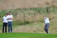 Barry Griffin (Waterford) on the 5th during the AIG Jimmy Bruen Shield Final between Lisselan &amp; Waterford in the AIG Cups &amp; Shields at Carton House on Saturday 20th September 2014.<br /> Picture:  Thos Caffrey / www.golffile.ie