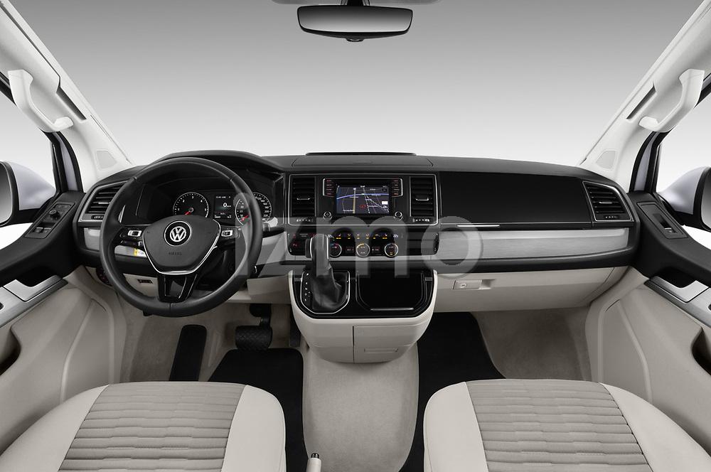 Stock photo of straight dashboard view of a 2018 Volkswagen California Ocean 4 Door Passenger Van