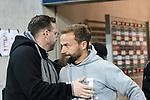 14.02.2020, Preußenstadion, Münster, GER, 3.FBL, SC Preussen Muenster vs. FC Wuerzburger Kickers, <br /> <br /> DFL REGULATIONS PROHIBIT ANY USE OF PHOTOGRAPHS AS IMAGE SEQUENCES AND/OR QUASI-VIDEO<br /> <br /> im Bild<br /> v.li. Trainer Sascha Hildmann (SC Preußen Münster) und Trainer Michael Schiele (FC Würzburger Kickers)<br /> <br /> Foto © nordphoto / Paetzel