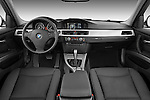 Straight dashboard view of a 2009 bmw 3 series wagon 328.