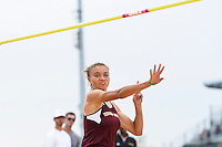 Courtney Johnson of Texas approaches to attempt a high jump during Baylor Invitational track meet, Friday, April 03, 2015 in Waco, Tex. (Mo Khursheed/TFV Media via AP Images)