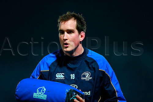 23.03.2013 Dublin, Ireland. Devin Toner (Leinster) before the RaboDirect Pro12 game between Leinster and Glasgow from the RDS Arena.