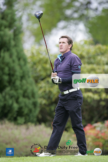 A P McCoy during Wednesday's Pro-Am ahead of the 2016 Dubai Duty Free Irish Open Hosted by The Rory Foundation which is played at the K Club Golf Resort, Straffan, Co. Kildare, Ireland. 18/05/2016. Picture Golffile | TJ Caffrey.<br /> <br /> All photo usage must display a mandatory copyright credit as: &copy; Golffile | David Lloyd.