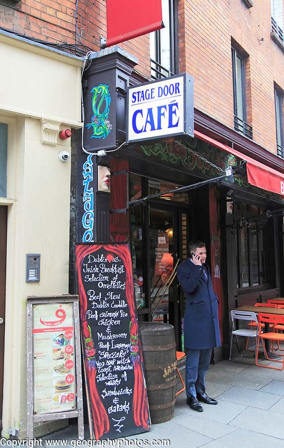 Stage Door Cafe, Dublin city centre, Ireland, Republic of Ireland