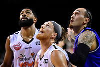 Hawks&rsquo; El Singler in action during the NBL - Cigna Saints v Bay Hawks at TSB Bank Arena, Wellington, New Zealand on Friday 12 April 2019. <br /> Photo by Masanori Udagawa. <br /> www.photowellington.photoshelter.com