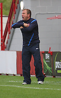 Hamilton Manager Billy Reid shouting instructions in the Hamilton Academical v Motherwell friendly match played at New Douglas Park, Hamilton on 24.7.12..