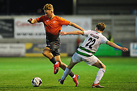 Pictured: Kees De Boer of Swansea City u19's in action during the FAW youth cup final between Swansea City and The New Saints at Park Avenue in Aberystwyth Town, Wales, UK.<br /> Wednesday 17 April 2019