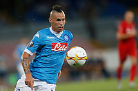 Napoli's Marek Hamsik  during the Europa  League Group D soccer match against Brugge  at the San Paolo  Stadium in Naples September 17, 2015