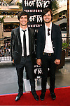 """HOLLYWOOD, CA. - September 16: Brendon Urie and Spencer Smith of Panic at the Disco arrive at """"Jennifer's Body"""" Hot Topic Fan Event at Hot Topic on September 16, 2009 in Hollywood, California."""
