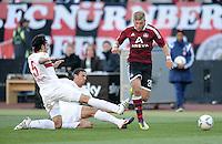 FUSSBALL   1. BUNDESLIGA  SAISON 2011/2012   10. Spieltag 1 FC Nuernberg - VfB Stuttgart         22.10.2011 Serdar Tasci (li, VfB Stuttgart) gegen Khalid Boulahrouz (Mitte, VfB Stuttgart) gegen Alexander Esswein (1 FC Nuernberg)