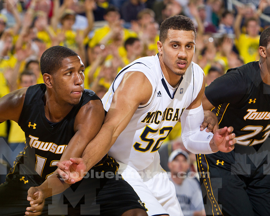 The University of Michigan men's basketball team beat Towson, 64-47, at Crisler Arena in Ann Arbor, Mich., on November 14, 2011.