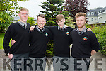 Se Mac Ginea, Dillon O'Hearai, Daniel O'Murchu and Cathal O'Currin  at the  Gaelcholáiste Chiarraí Awards night in Ballygarry House Hotel on Thursday