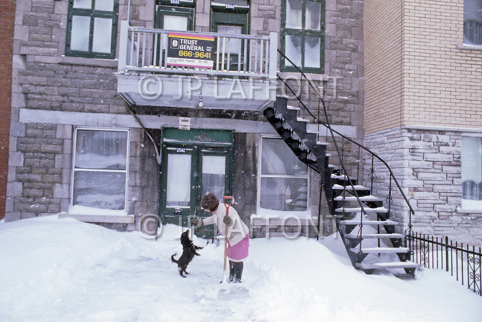 Montreal, Canada, March 1978. The streets in Winter.