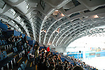 Il Palazzo delle Esposizioni ITALIA 61 al Parco del Valentino durante i Giochi Olimpici Torino 2006. La volta di Luigi Nervi...The Expo Palace ITALIA 61 in the Valentino Park, during the Olympic Games 2006. The Luigi Nervi vault.