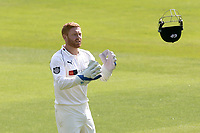 Johnny Bairstow of Yorkshire catches the helmet during Essex CCC vs Yorkshire CCC, Specsavers County Championship Division 1 Cricket at The Cloudfm County Ground on 4th May 2018