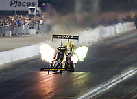 Oct 27, 2017; Las Vegas, NV, USA; NHRA top fuel driver Tony Schumacher during qualifying for the Toyota National at The Strip at Las Vegas Motor Speedway. Mandatory Credit: Mark J. Rebilas-USA TODAY Sports