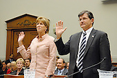 Washington, D.C. - June 25, 2007 -- Former Environmental Protection Agency (EPA) Administrator Christine Todd Whitman is sworn-in to testify before the United States House Constitution, Civil Rights, and Civil Liberties Subcommittee hearing on post 9/11 air quality in New York and the area surrounding the Twin Towers in Manhattan in Washington, D.C. on Monday, June 25, 2007.<br /> Credit: Ron Sachs / CNP<br /> (RESTRICTION: No New York or New Jersey newspapers or Newspapers within a 75 mile radius of New York City)