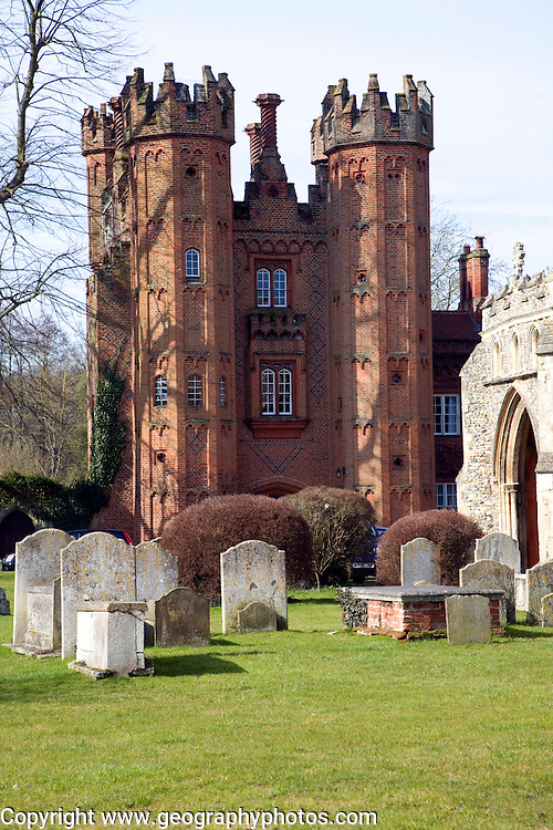 Deanery Tower, Hadleigh, Suffolk<br /> originally the gatehouse now all that remains of a palace built by Archdeacon Pykenham in 1495.