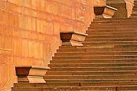 Steps, Central Secretariat (Kendriya Sachivalaya) on Raisina Hill, New Delhi, India
