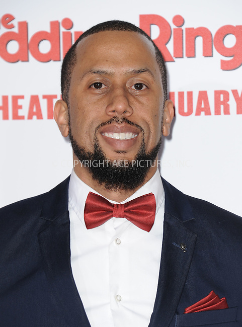 WWW.ACEPIXS.COM<br /> <br /> January 6 2015, LA<br /> <br /> Affion Crockett arriving at 'The Wedding Ringer' World Premiere at the TCL Chinese Theatre on January 6, 2015 in Hollywood, California. <br /> <br /> <br /> By Line: Peter West/ACE Pictures<br /> <br /> <br /> ACE Pictures, Inc.<br /> tel: 646 769 0430<br /> Email: info@acepixs.com<br /> www.acepixs.com