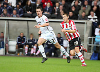 Pictured: Marcos Painter of Swansea City in action <br /> Re: Coca Cola Championship, Swansea City Football Club v Southampton at the Liberty Stadium, Swansea, south Wales 25 October 2008.<br /> Picture by Dimitrios Legakis Photography, Swansea, 07815441513