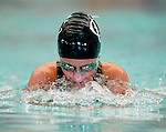 Country Club's Tayler Hulbert competes in the 50 yard breast race during the 53rd annual Country Club Swimming Championships on Monday, Aug. 6, 2012, in Kearns, Utah. (© 2012 Douglas C. Pizac)