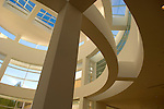 Interior architectural detail of the Getty Center for the Arts in Los Angeles