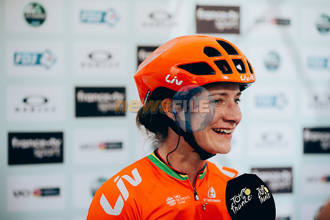 Marianne Vos (NED) CCC-Liv wins La Course 2019 By Le Tour running 121km from Pau to Pau, France. 19th July 2019.<br /> Picture: ASO/Thomas Maheux   Cyclefile<br /> All photos usage must carry mandatory copyright credit (© Cyclefile   ASO/Thomas Maheux)