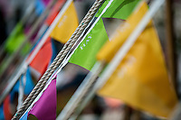 Tuesday 31 May 2016. Hay on Wye, UK<br /> Pictured: Bunting at the hay <br /> Re: The 2016 Hay festival take place at Hay on Wye, Powys, Wales