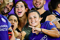 Orlando, FL - Saturday July 07, 2018: Camila Martins Pereira, Fans during the second half of a regular season National Women's Soccer League (NWSL) match between the Orlando Pride and the Washington Spirit at Orlando City Stadium. Orlando defeated Washington 2-1.