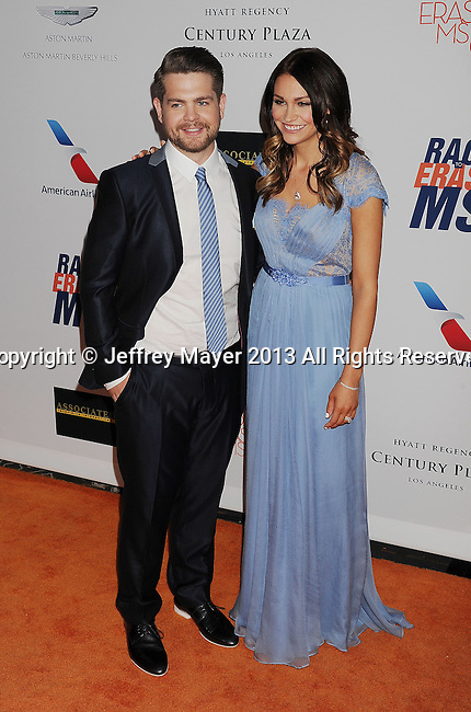 CENTURY CITY, CA- MAY 03:  TV Personality Jack Osbourne and Lisa Stelly arrive at the 20th Annual Race To Erase MS Gala 'Love To Erase MS' at the Hyatt Regency Century Plaza on May 3, 2013 in Century City, California.
