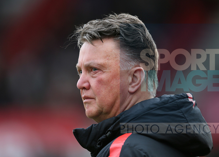 Louis van Gaal manager of Manchester United - Barclays Premier League - Stoke City vs Manchester Utd - Stoke - England - 1st January 2015 - Picture Simon Bellis/Sportimage