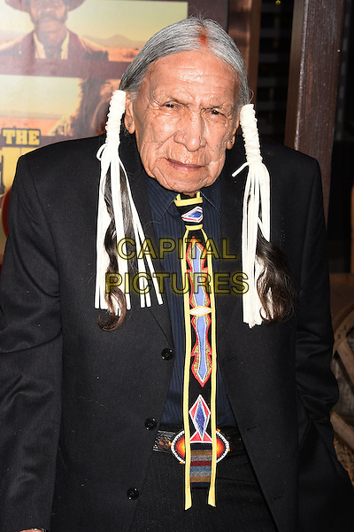 UNIVERSAL CITY, CA - NOVEMBER 30: Actor Saginaw Grant arrives at the premiere of Netflix's 'The Ridiculous 6' at AMC Universal City Walk on November 30, 2015 in Universal City, California.<br /> CAP/ROT/TM<br /> &copy;TM/ROT/Capital Pictures