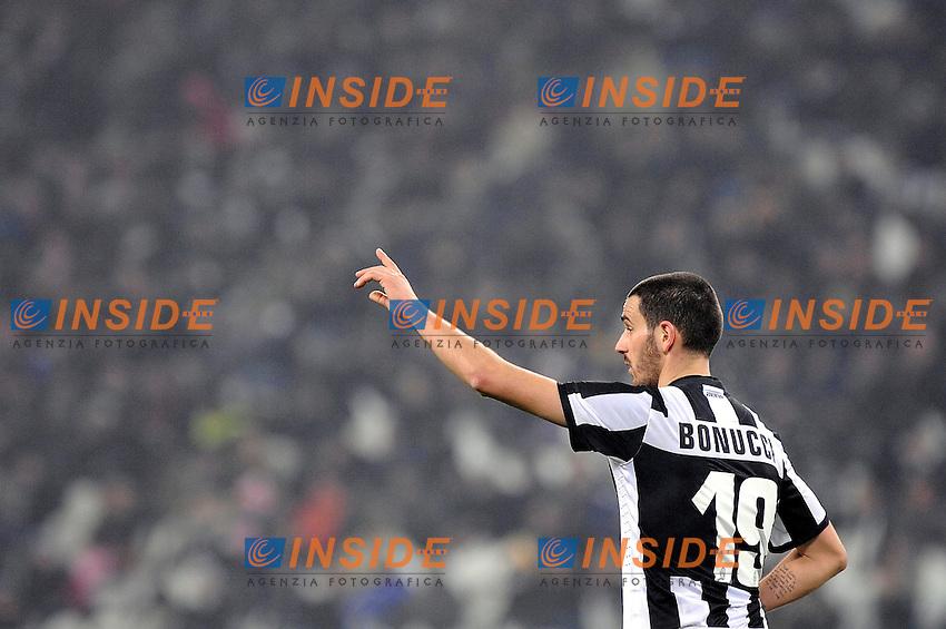 Leonardo Bonucci ( Juventus ).Torino 09/01/2013 Juventus Stadium.Semifinale del Trofeo Coppa Italia Tim Cup 2011/2012 .Football Calcio Juventus Milan 2-1.Foto Insidefoto Giorgio Perottino