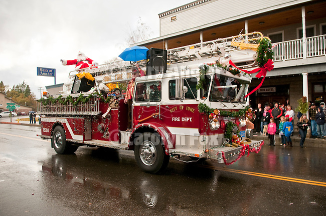 Ione Business and Community Association hosts the annual Main Street Christmas parade featuring the Ione Fire Dept. in the Mother Lode of Calif