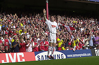 Premiership Football - Arsenal v Leicester City:.2003/04 Season - 15/05/2004  [Record breaking Season undefeated].Martin Keown, warms up on the touch line. .[Credit] Peter Spurrier Intersport Images