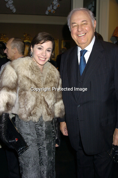 Tiffany Dubin and stepfather Alfred Taubman ..at the opening of The 51st Annual  Winter Antiques Show on January 20, 2005 at the Seventh Regiment Armory. in New York City...Photo by Robin Platzer, Twin Images