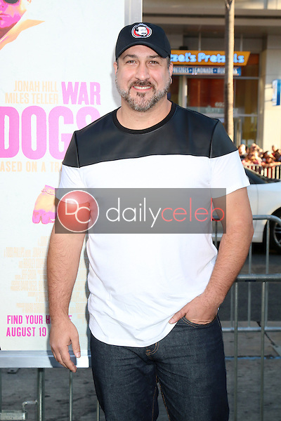 Joey Fatone<br /> at the &quot;War Dogs&quot; Premiere, TCL Chinese Theater IMAX, Hollywood, CA 08-15-16<br /> David Edwards/DailyCeleb.com 818-249-4998