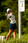 STILLWATER, OK - MAY 21: Chloe Salort of Kent State drives from the second tee box during the Division I Women's Golf Individual Championship held at the Karsten Creek Golf Club on May 21, 2018 in Stillwater, Oklahoma. (Photo by Shane Bevel/NCAA Photos via Getty Images)