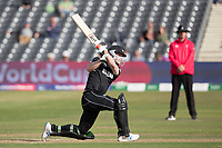 James Neesham (New Zealand) powers to the wide long on boundary during West Indies vs New Zealand, ICC World Cup Warm-Up Match Cricket at the Bristol County Ground on 28th May 2019