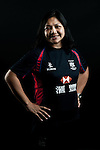 Cookie Tse Man Sze poses during the Hong Kong 7's Squads Portraits on 5 March 2012 at the King's Park Sport Ground in Hong Kong. Photo by Andy Jones / The Power of Sport Images for HKRFU