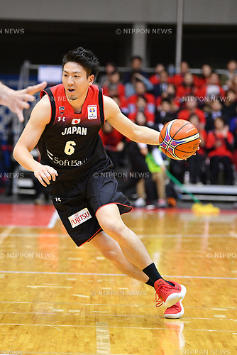 アウカ Makoto Hiejima (JPN), <br /> NOVEMBER 24, 2017 - Basketball : <br /> FIBA World Cup 2019 Asian Qualifier First Round match between <br /> Japan 71-77 Philippines <br /> at Komazawa Olympic Park Gymnasium in Tokyo, Japan. <br /> (Photo by MATSUO.K/AFLO SPORT)