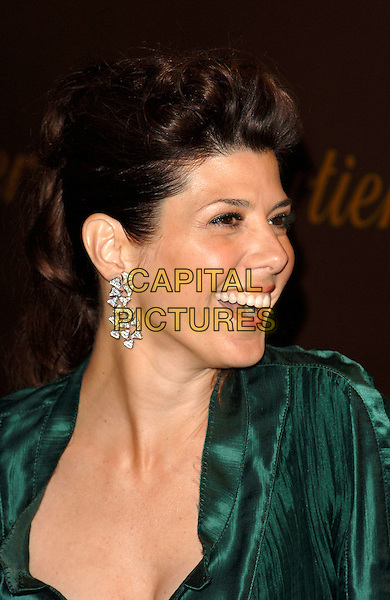 MARISA TOMEI.Cartier celebrates 25 years in Beverly Hills, in honour of projest A.L.S. held at the Rodeo Drive Boutique, Beverly Hills, Los Angeles, California, USA,.May 9th 2005..portrait headshot profile side diamond dangly earring.Ref: MOO.www.capitalpictures.com.sales@capitalpictures.com.©Capital Pictures.