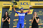 Fernando Gaviria (COL) Quick-Step Floors wins Stage 1 of the 2018 Tour de France running 201km from Noirmoutier-en-l&rsquo;&Icirc;le to Fontenay-le-Comte, France. 7th July 2018. <br /> Picture: ASO/Pauline Ballet | Cyclefile<br /> All photos usage must carry mandatory copyright credit (&copy; Cyclefile | ASO/Pauline Ballet)