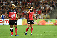 Mathieu Bastareaud and Matt Giteau of Toulon during the Top 14 semi final match between La Rochelle and Rc Toulon at Orange Velodrome on May 26, 2017 in Marseille, France. (Photo by Alexandre Dimou/Icon Sport)