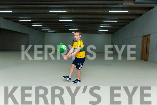 Daragh Keane Kilcummin has a kickabout in Kerry's Centre of Excellence in Fossa on Friday