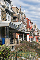 Row homes, Mt Airy, Philadelphia, Pennsylvania, USA