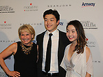 Andrea Joyce and National Champion skaters Alex and Maia Shibutani at The 11th Annual Skating with the Stars Gala - a benefit gala for Figure Skating in Harlem hosted by Mary Wilson of the Supremes on April 11, 2016 on Park Avenue in New York City, New York with many Olympic Skaters and Celebrities. (Photo by Sue Coflin/Max Photos)
