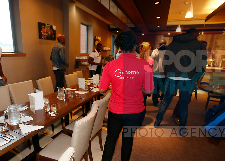 Copthorne staff working during the Carabao Cup, second round match at Bramall Lane, Sheffield. Picture date 22nd August 2017. Picture credit should read: Simon Bellis/Sportimage